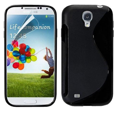 3-I9500 s line tpu gel case - BLACK