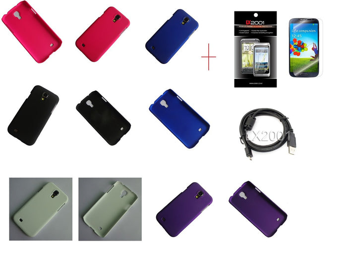 Samsung Galaxy S4 Case USB PC Cable Screen Protector