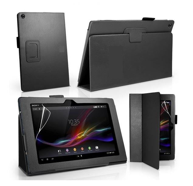 Sony Xperia TABLET Z Leather Case Car Charger Kit