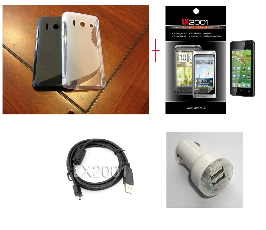 Huawei Ascend Y300 Case Dual USB PC Car Charger