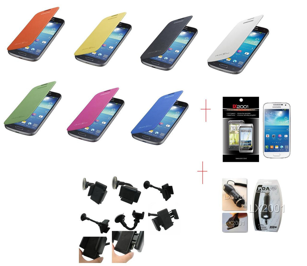 Samsung Galaxy S4 Mini Flip Case Charger Holder