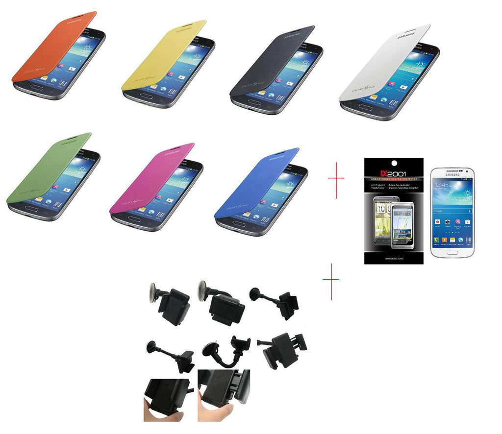 Samsung Galaxy S4 Mini Flip Case Car Holder