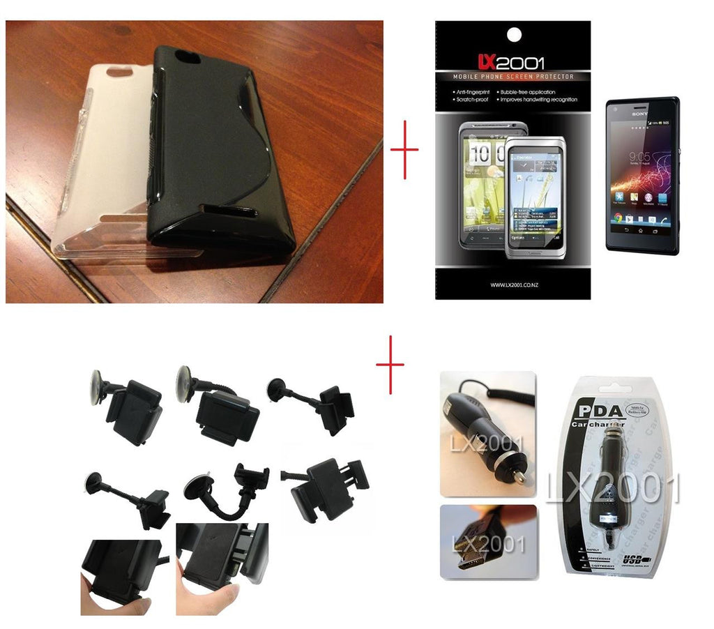 Sony Xperia M Case Car Kit Holder Charger