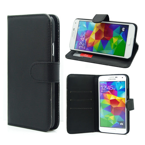 Samsung Galaxy S5 Wallet Leather Gel Case 32GB SD