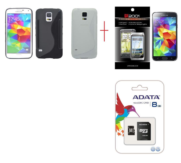 Samsung Galaxy S5 Case 8GB MicroSD Memory Card SP