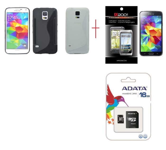 Samsung Galaxy S5 Case 16GB MicroSD Memory Card SP