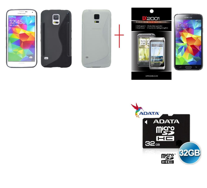 Samsung Galaxy S5 Case 32GB MicroSD Memory Card SP