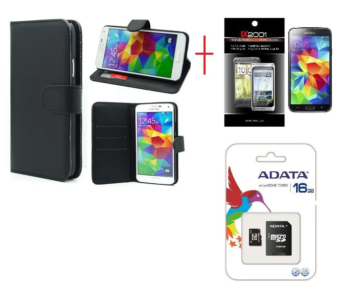 Samsung Galaxy S5 Wallet Leather Case 16GB MicroSD
