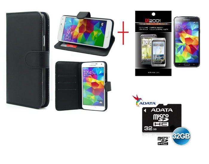 Samsung Galaxy S5 Wallet Leather Case 32GB MicroSD