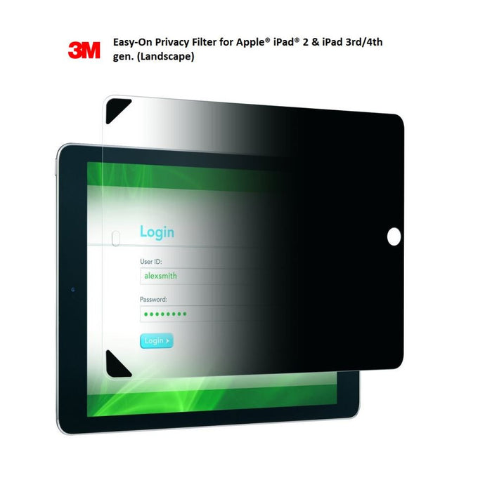 3M iPad 2 3 Privacy Screen Protector Landscape