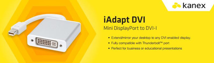 Kanex iAdapt DVI Mini DisplayPort to DVI D Adapter