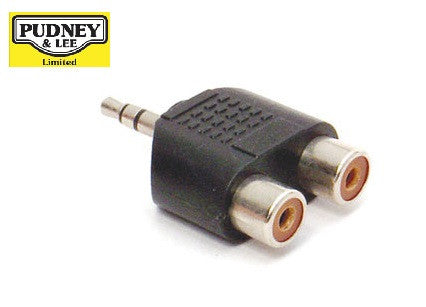 3.5MM STEREO PLUG TO 2 X RCA SOCKETS A1124