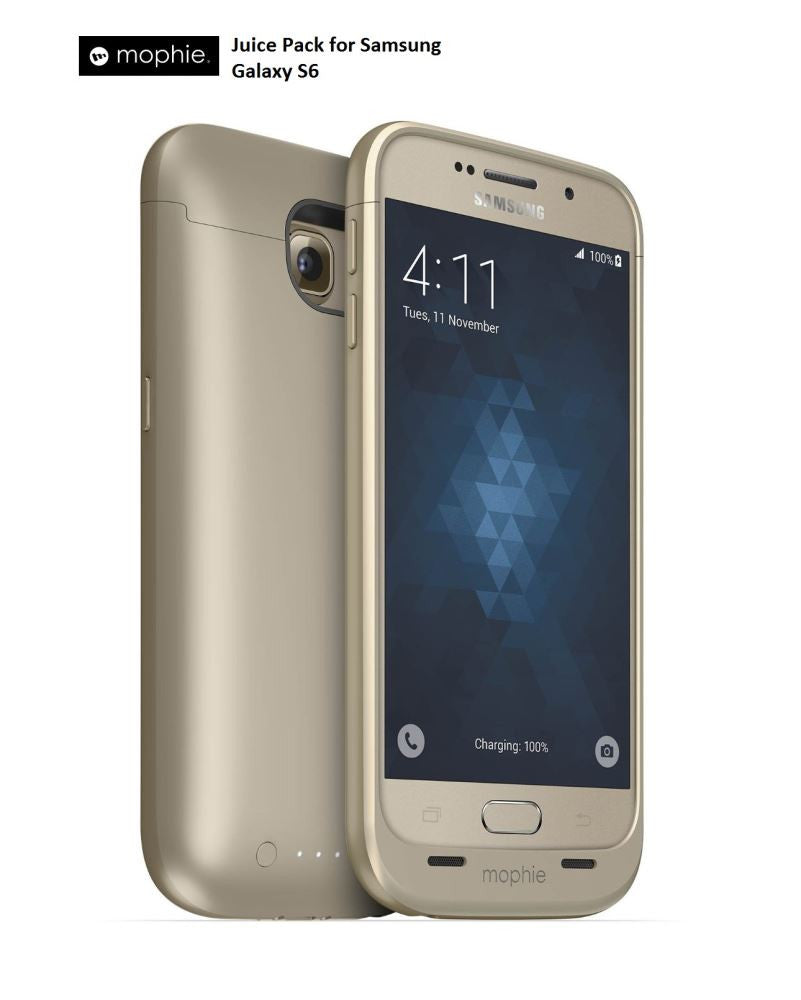 Mophie Juice Pack for Samsung Galaxy S6 - Gold 3206_JP-SGS6-GLD