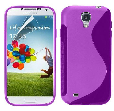 5-I9500 s line tpu gel case - PURPLE