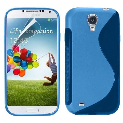 6-I9500 s line tpu gel case - BLUE