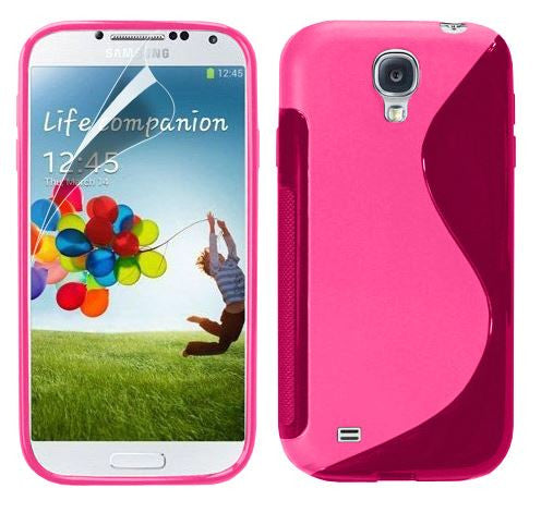 6-I9500 s line tpu gel case - HOT PINK