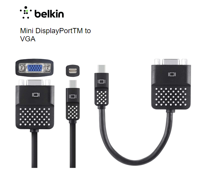 Belkin Mini DisplayPort to VGA Adapter F2CD028bt PROFILE PIC