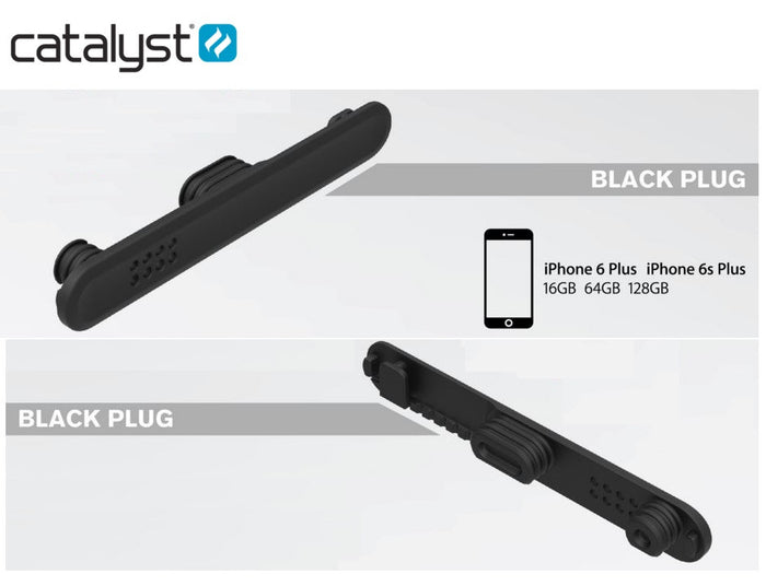 CATALYST  Replacement Plug for 6S Plus Black 1