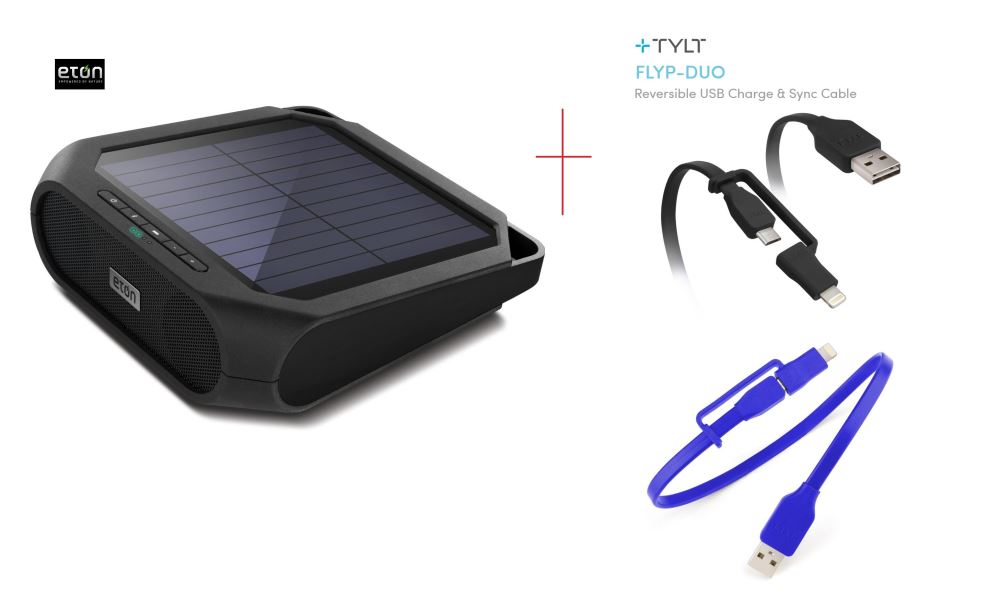 eton rukus solar bluetooth speaker tylt flyp duo micro. Black Bedroom Furniture Sets. Home Design Ideas