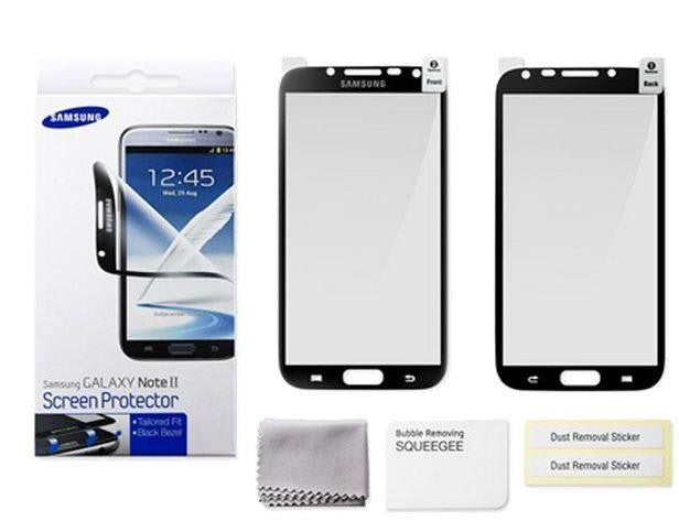 Genuine Samsung Note 2 Screen Protector - Black Bezel 2
