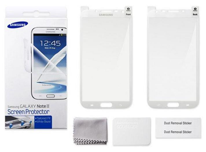 Genuine Samsung Note 2 Screen Protector - White