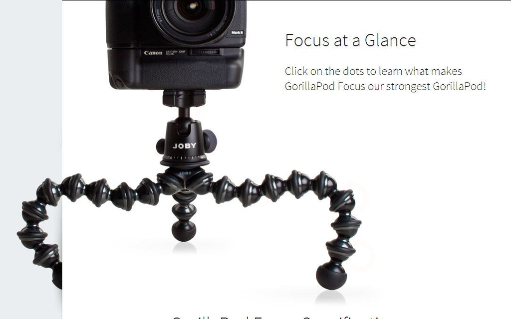 Gorillapod Focus Camera Tripod GP8 7