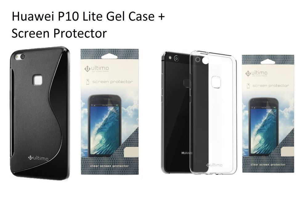 Huawei P10 Lite Gel Case + Screen Protector PROFILE PIC