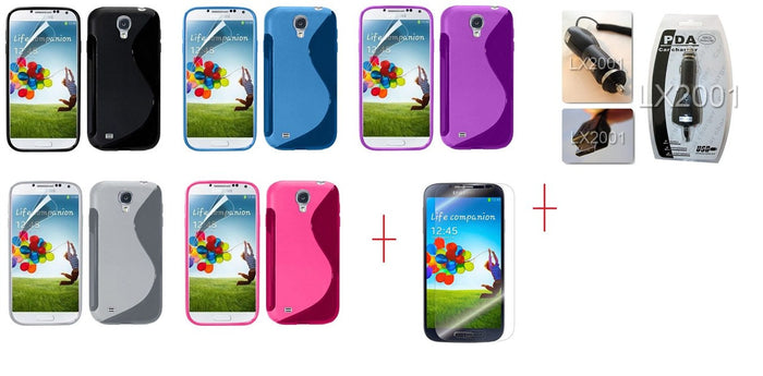 I9500 s line tpu gel case - GEL CASE ALL + SP + Car Charger