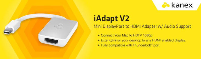 Kanex iAdapt Mini DisplayPort to HDMI Adapter Audio Support