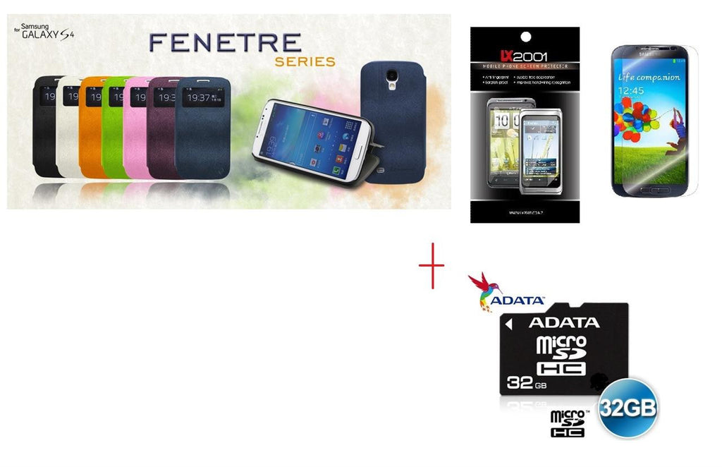 Le Nouveau Fenetre Series-protective case for Samsung Galaxy S4 + SP + 32GB MicroSD Card