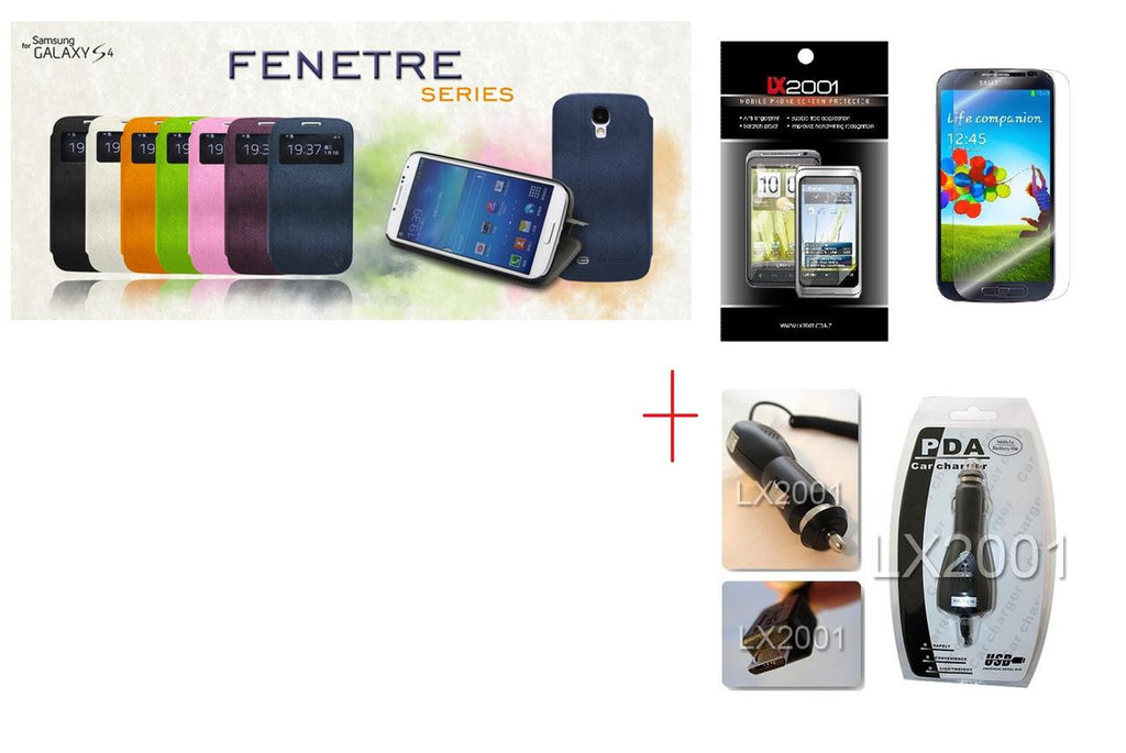 Le Nouveau Fenetre Series-protective case for Samsung Galaxy S4 + SP + Car Charger