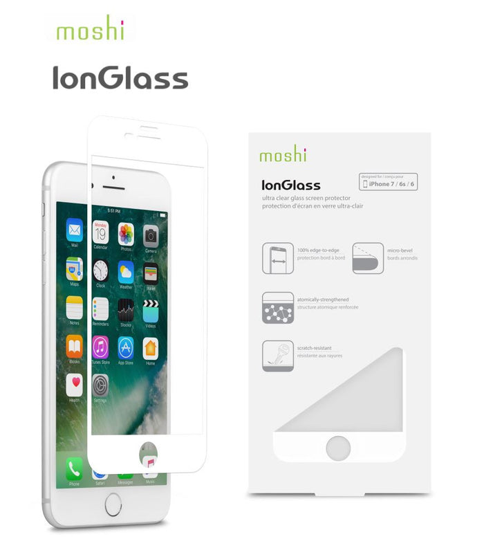 Moshi Ion Glass for iPhone 7 Plus - White 99MO096004 Profile Pic