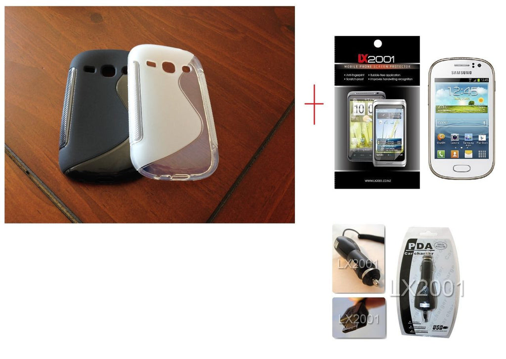 Samsung Galaxy Fame S6810 Gel Case + Screen Protector + Car Charger