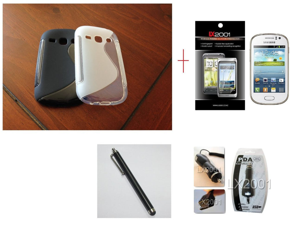 Samsung Galaxy Fame S6810 Gel Case + Screen Protector + Car Charger + Stylus