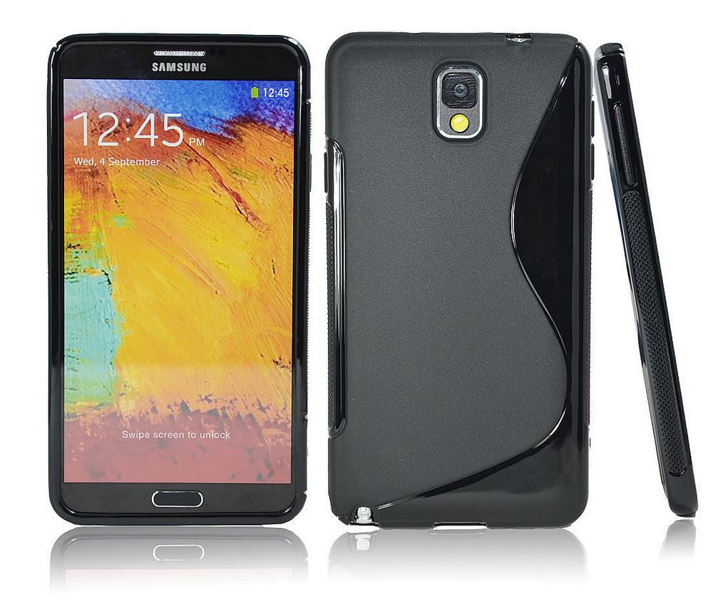 Samsung Galaxy Note 3 Gel Case Black 2