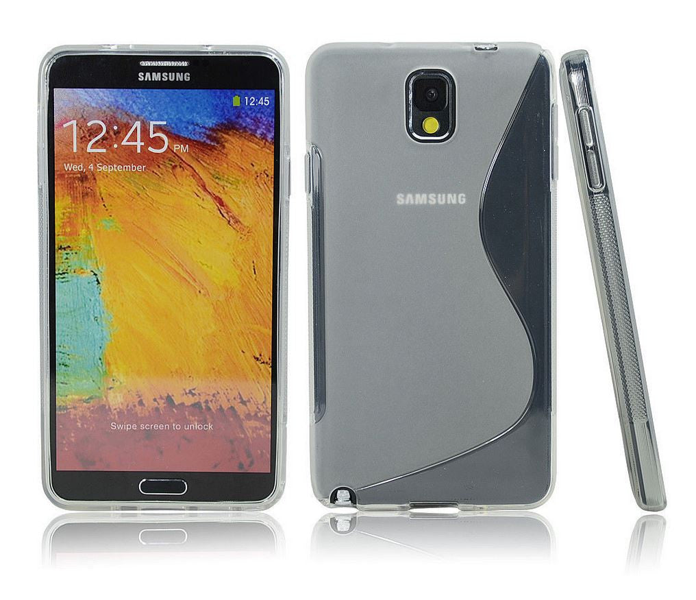 Samsung Galaxy Note 3 Gel Case Clear White 1