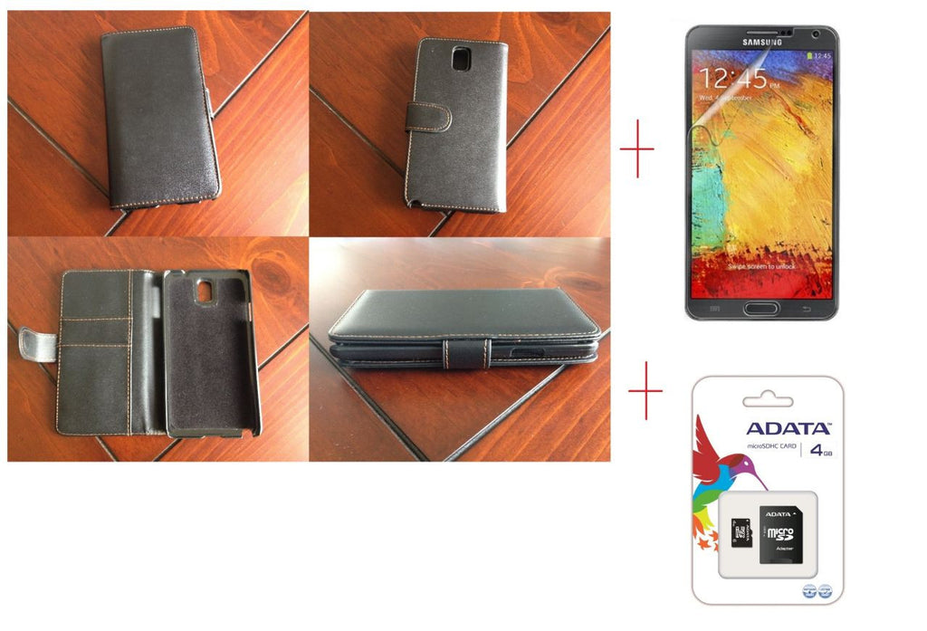 Samsung Galaxy Note 3 Samsung Wallet Leather Case + Screen Protector + 4GB MicroSD Card