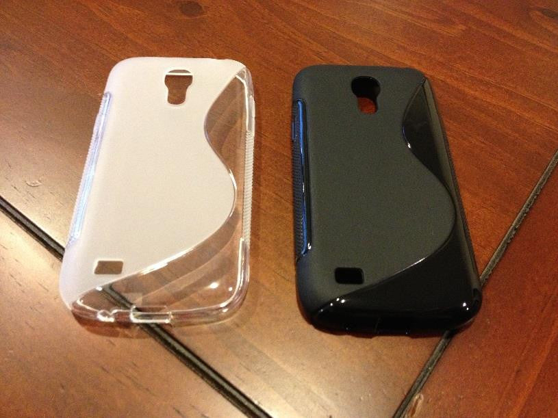 Samsung I9190 Galaxy S4 mini Gel Case BLACK CLEAR 2 25%