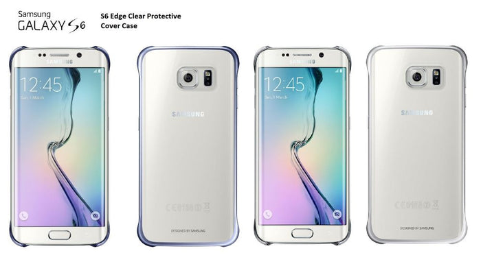 Samsung S6 Edge Clear Protective Cover - Black PROFILE PIC