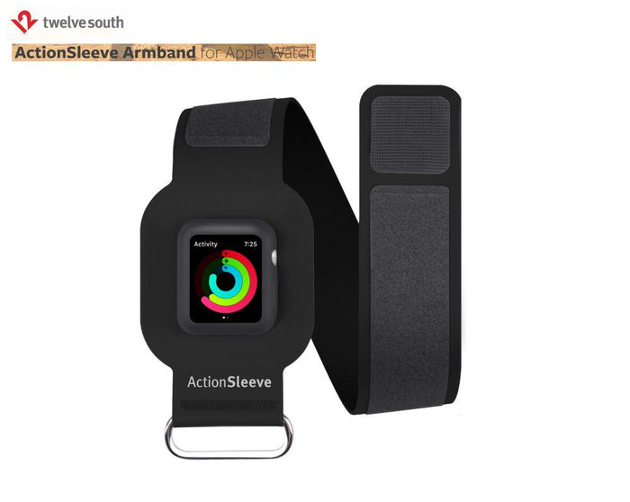 TWELVESOUTH ActionSleeve for Apple Watch 38-L (Black) 12-1701