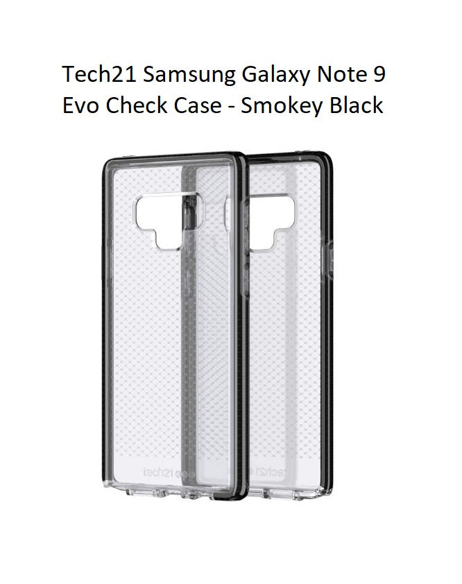 quality design 73d30 e89b8 Tech21 Samsung Galaxy Note 9 Evo Check Case - Smokey / Black T21-6082