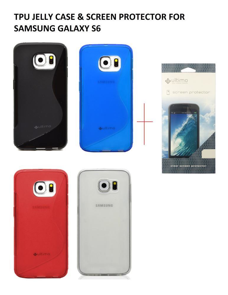 Ultimo TPU JELLY CASE & SCREEN PROTECTOR FOR SAMSUNG GALAXY S6 PROFILE PIC