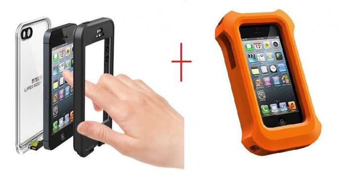iPhone 5 Lifeproof Nuud Case Black + Life Jacket