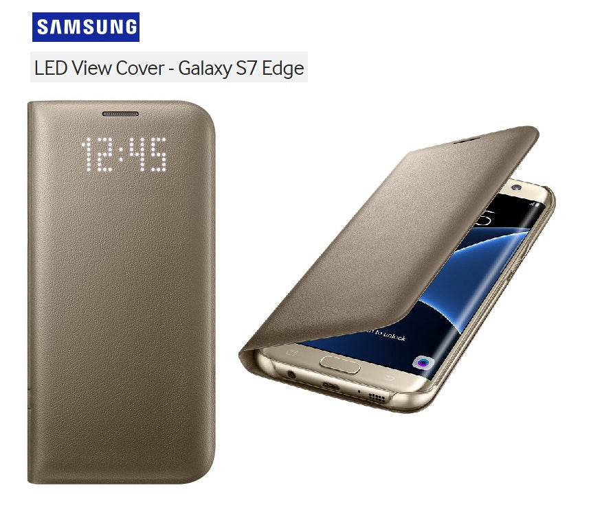 size 40 470a8 881cd Samsung Galaxy S7 Edge LED View Cover Case GOLD EF-NG935PFEGWW