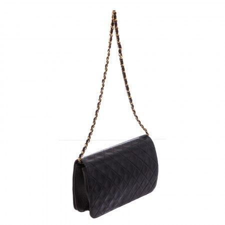 Pre Owned - Chanel Vintage Black Quilted Lambskin Leather Flap Bag