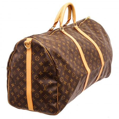 Pre Owned - Louis Vuitton Monogram Canvas Leather Keepall 60 cm Bandouliere Duffle Bag Lugagge