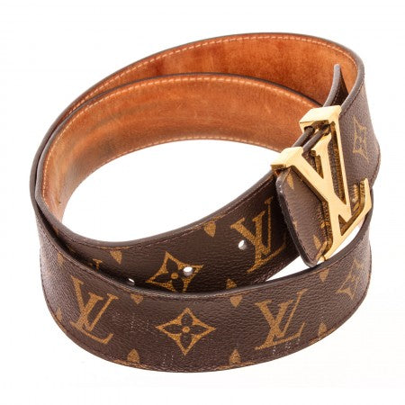 Pre Owned - Louis Vuitton Monogram Canvas Initials Belt