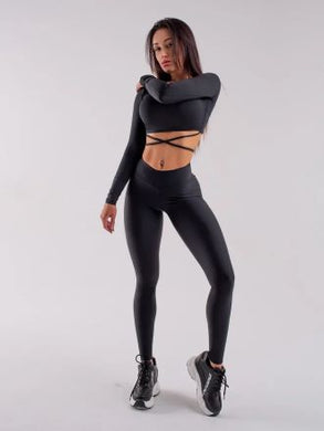 Second Skin BLACK- Leggings Yoga Pants 004