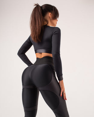 Second Skin BLACK- Leggings Yoga Pants 002
