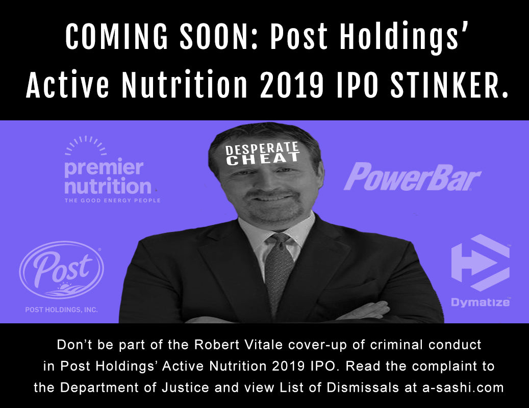 Rob Vitale Post Holdings IPO